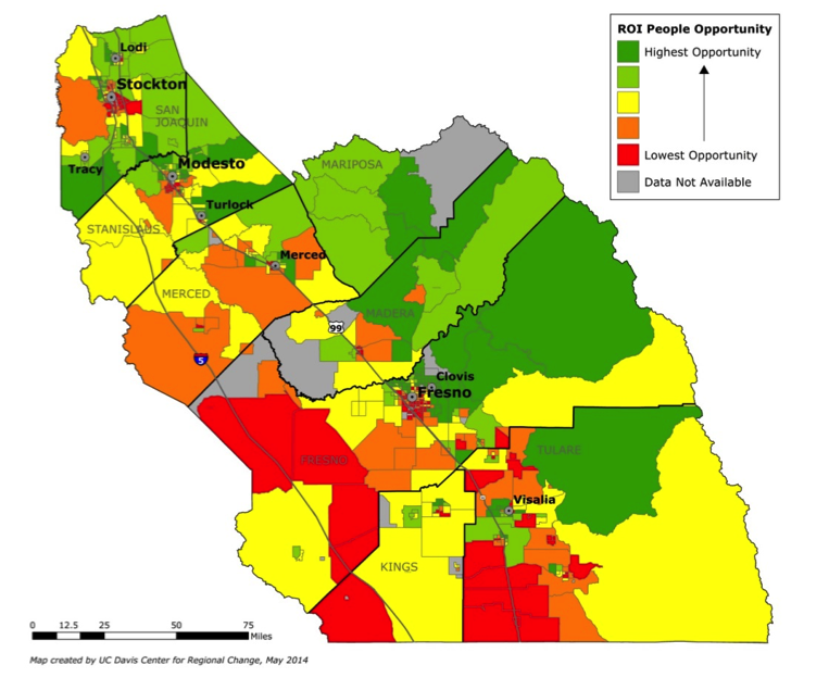 San Joaquin Valley Map